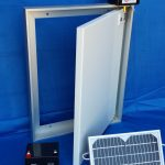 Door with 3w Solar Panel and Battery