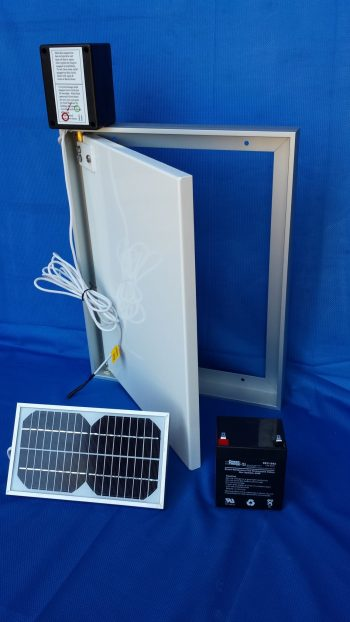 Door with Photo Sensor and 3w Solar Panel and Battery